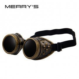 Unisex Gothic Vintage Victorian Style Goggles Welding Punk Gothic Glasses Cosplay Merrys/hoodmat.com