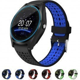 Bluetooth Smart Watch V9 With Camera Pedometer Health Sport Clock Hours Men Women Smartwatch For Android&Amp;Ios 696/hoodmat.com
