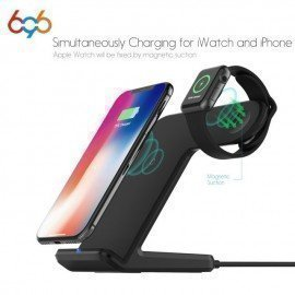 F11 2 In 1 Wireless Fast Charger Dock Station Stand For Phone Watch Charging Dock Station For Apple Watch 2/3 For Iphonex 696/hoodmat.com
