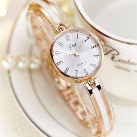 Luxury Crystal Rose Gold Watches Women Fashion Bracelet Quartz Watch Women Dress Watch Relogio Feminino Orologio Donna Jw Wristwatches/hoodmat.com