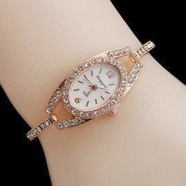 Luxury Brand Rhinestone Rose Gold Watches Women Stainless Steel Bracelet Diamante Quartz Watch Women Dress Watches Female Hours Jw Wristwatches/hoodmat.com