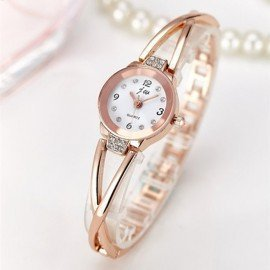 New Fashion 2018 Luxury Rhinestone Watches Women Stainless Steel Quartz Bracelet Watch Ladies Dress Watches Gold Clock Relogios  Jw Wristwatches/hoodmat.com