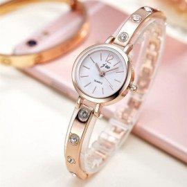 New Bracelet Watches Women Luxury Brand Stainless Steel Rhinestone Wristwatches For Ladies Dress Quartz Watch Reloj Mujerac072 Jw Wristwatches/hoodmat.com