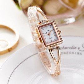 2018 Women Bracelet Watches Luxury Gold Stainless Steel Wristwatches Ladies Fashion Casual Quartz Watch Female Clock Jw Wristwatches/hoodmat.com