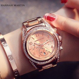 Hannah Martin Quartz-Watch Women Watches Luxury Famous Brand Watches Women Female Clock Women Wrist Watches Relogio Femininos Jw Wristwatches/hoodmat.com