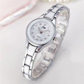 Luxury Brand Silver Watches Women Gold Bracelet Quartz Watch Ladies Stainless Steel Fashion Casual Dress Wristwatches Clock  jw wristwatches//hoodmat.com