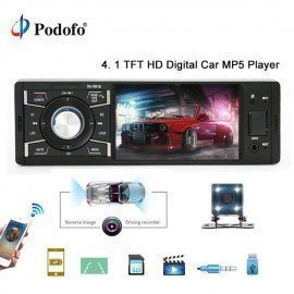 Autoradio 4&Quot; 1 Din Car Radio Audio Stereo Multimedia Mp5 Player Bluetooth Fm Receiver Usb Aux-In Sd Support Backup Camera Podofo /hoodmat.com