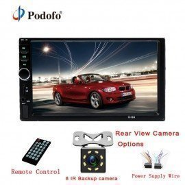 Autoradio 2 Din Car Radio 7&Quot; Hd Touch Screen Audio Car Stereo Bluetooth Video Mp5 Multimedia Player Rear View Camera Podofo /hoodmat.com