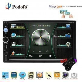 2 Din Car Radio 7&Quot; Hd Autoradio Multimedia Mp5 Player Bluetooth 2Din Car Stereo Rear View Camera Iso Android Mirror Link  Podofo /hoodmat.com
