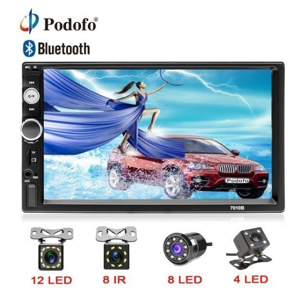 2Din Autoradio 7&Quot; Hd Touch Screen Digital Display Bluetooth Multimedia Mp5 Player Usb 2 Din Car Radio Stereo Monitor  Podofo /hoodmat.com