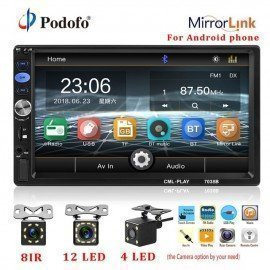 2Din Car Radio 7&Quot; Touch Screen Mp5 Player 2 Din Autoradio For Subwoofer Support Rear View Camera Mirrorlink For Android Podofo /hoodmat.com