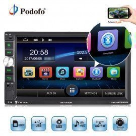 2Din Car Radio Autoradio 7 Audio Stereo Multimedia Mp5 Player Fm Receiver Usb Bluetooth Radios Support Rear View Camera Podofo /hoodmat.com