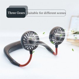 2019 New Usb Portable Fan Hands-Free Neck Hanging Usb Charging Outdoor Mini Portable Sports Fan 3 Gears Usb Air Conditioner Marvellous Life/hoodmat.com