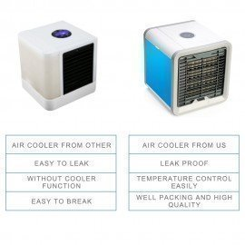 Portable Fan Usb Rechargeable Mini Air Conditioner Air Cooler Fans 7 Colors Led Light The Quick Cooler Airlover/hoodmat.com