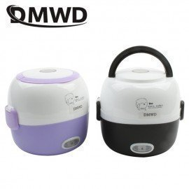 Mini Rice Cooker Insulation Heating Electric Lunch Box 2 Layers Portable Steamer Multifunction Automatic Food Container Eu JessS Mommy Appliance/hoodmat.com