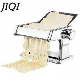 Stainless Steel Pasta Manual Noodle Maker Handmade Spaghetti Noodles Press Machine Roller Hand Operated Dough Cutter Hanger JessS Mommy Appliance/hoodmat.com