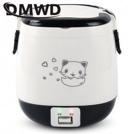 1.5L Mini Electric Rice Cooker Portable Cooking Steamer Multifunction Food Container Soup Pot Heating Lunch Box 1-3 People JessS Mommy Appliance/hoodmat.com