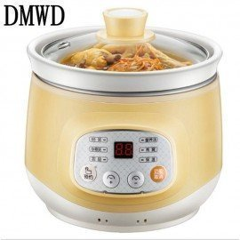 Household Electric Smart Slow Cooker White Porcelain Porridge Soup Stewing Machine Mini Timer Control Baby Food Steamer 1L JessS Mommy Appliance/hoodmat.com