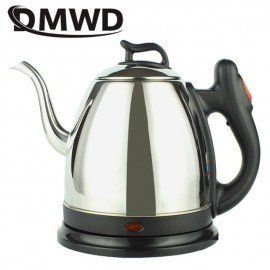 Long Spout Mouth Stainless Steel Electric Kettle Teapot Good Auto Power Off Coffee Boiler 1L Hot Water Heating Pot Eu Plug JessS Mommy Appliance/hoodmat.com