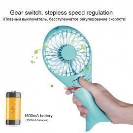 Portable Handheld Mermaid Fans Rechargeable Air Conditioner Usb Cooler Fan 1500Mah Air Conditioning Foldable Ventilador Fans Je J. Cotton. Design/hoodmat.com