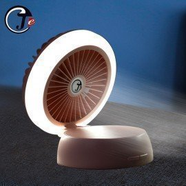 2019 Desk Fan With Light Usb Powered Table Fans Mini Usb Fan Flip Cover Portable Fan With Night Light For Office/Home/Outdoor Je J. Cotton. Design/hoodmat.com