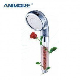 Shower Filter Anion Tourmaline Supercharged Super Water-Saving Shower Handheld Negative Ionic Shower Filtration Wf-05 Animore/hoodmat.com
