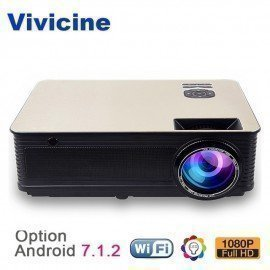 Home Theater Hd Projector 5500Lumens,Optional Android 7.1 Wifi Bluetooth,Support 1080P Led Video Game Projector Beamer Vivicine/hoodmat.com