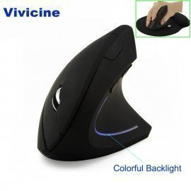 Wireless Mouse Ergonomic Optical 2.4G 800/1200/1600Dpi Vertical Wireless Mouse Projector Accessories Vivicine/hoodmat.com