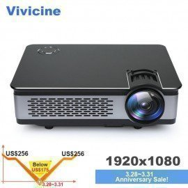 Full Hd Projector 1080P,Optional 1920X1080 3800 Lumens Android Portable Hdmi Usb Pc Home Theatre Projectors Beamer Vivicine/hoodmat.com