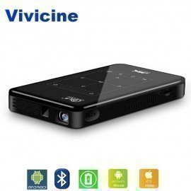 4K Mini Projector Android Bluetooth,4000Mah Battery,Support Miracast Airplay Handheld Mobile Projector Video Beamer Vivicine/hoodmat.com
