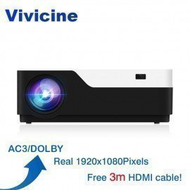 M18 1920X1080 Real Full Hd Projector, Hdmi Usb Pc 1080P Led Home Multimedia Video Game Projector Proyector Support Ac3 Vivicine/hoodmat.com