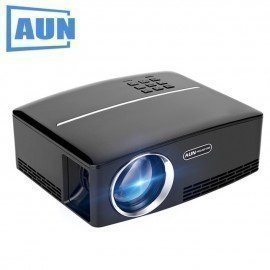 Projector Aun1 1800 Lumens Led Projector Set In Hd In,Vga,Usb Port. 28 Pcs Led Beads Hd Projector Aun/hoodmat.com