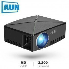 Mini Projector C80 Up, 1280X720 Resolution, Android Wifi Proyector, Led Portable Hd Beamer For Home Cinema, Optional C80 Aun/hoodmat.com