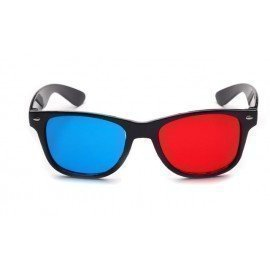 2Pcs/Lot Retail Red Blue Plasma Plastic 3D Glasses Tv Movie Dimensional Anaglyph Framed 3D Vision Glasses For Led Projector Wzatco/hoodmat.com