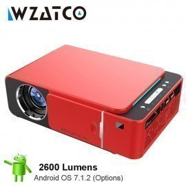 2600Lume 720P Hd Portable Led Projector Optional Android 7.1 Wifi Hdmi Usb Support 4K 1080P Home Theater Proyector Beamer Wzatco/hoodmat.com