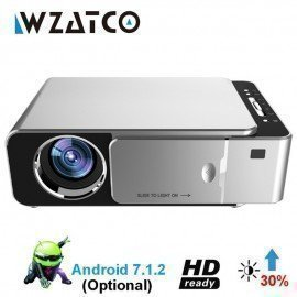T6 Android 7.1 Wifi Smart Optional Hd Led Portable Mini Projector Support 1080P Video For Home Theater Game Movie Cinema Wzatco/hoodmat.com