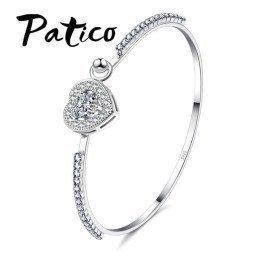 Bracelet Silver Bracelets Fashion Jewelry For Women Bracelets Wholesale  With Lovely Heart Pendant Patico/hoodmat.com