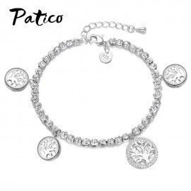 100% Brand New European &Amp; American Fashion 925 Sterling Silver Tree Of Life Charm Bracelets &Amp; Bangles For Women Jewelry Patico/hoodmat.com