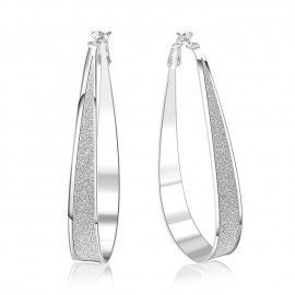 Anti Allergic 100% Sterling Silver Hoop Earrings Vogue Brand Stylish Circle Loop Jewelry For Woman Patico/hoodmat.com