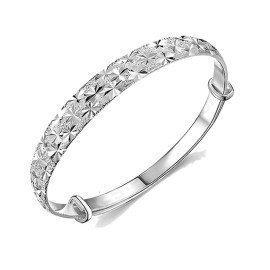 New Brand Women  Newest Luxury Bangles Wedding Jewelry 925 Sterling Silver Flower  Bracelets Bangles For Women Fashion Patico/hoodmat.com