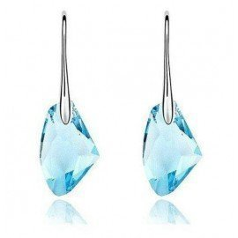 One Pair Colorful Austria Crystal Stone 925 Sterling Silver Hook Earrings Nice 6 Colors Patico/hoodmat.com