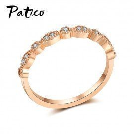 Lady Style White Cz Rings Rose Gold Color Femal Rings Fashion Brand Retro Crystal 925 Silver Jewelry For Women Xmas Gift Patico/hoodmat.com