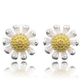 Beautiful Flower Fashion One Pair  925 Sterling Silver Earring Accessories Luxury Jewelery Gift For Women Patico/hoodmat.com