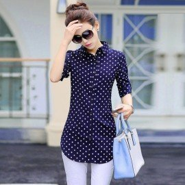 New Fashion Print Blouses Women Long Style Shirts 2019 Cotton Ladies Tops Long Sleeve Blusas Femininas Plus Size Women Clothing Alifestyle/hoodmat.com