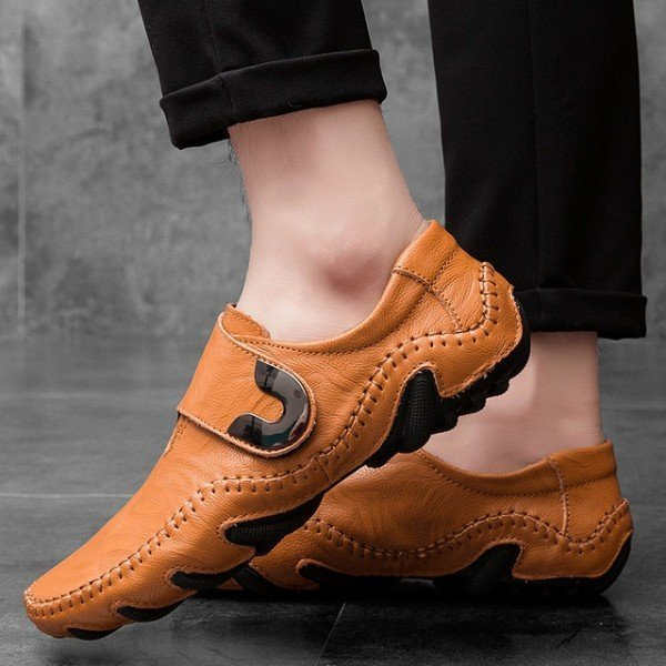 Casual Men  Warm Shoes Slip-On Loafers Autumn/Winter Fashion Soft Leather Driving Shoes Moccasins Comfort Men Boat Shoes Flats Jichi/hoodmat.com