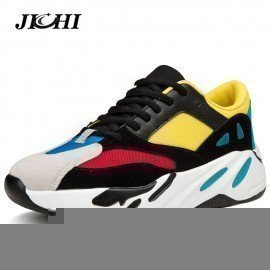 2019 Harajuku Spring Vintage Sneakers Men Breathable Mesh Casual Shoes Men Comfortable Fashion Tenis Masculino Adulto Sneakers Jichi/hoodmat.com