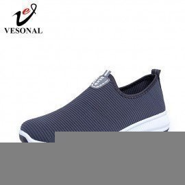 2019 Slip-On Lightweight Mesh Men Shoes Casual Breathable Comfortable Walking Male Sneakers Tenis Feminino Footwear A22 Vesonal/hoodmat.com