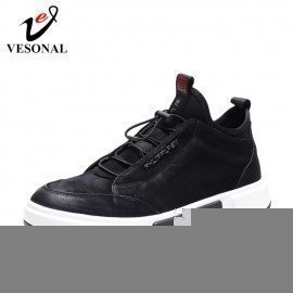 2019 Spring Luxury High Top Suede Genuine Leather Men Shoes Casual Fashion Sneakers For Male Comfortable Shoe Footwear Vesonal/hoodmat.com