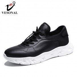 2019 Spring High Quality New Genuine Leather Men Shoes Casual Luxury Fashion Sneakers For Male Comfortable Shoe Footwear Vesonal/hoodmat.com