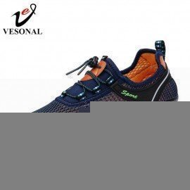 2019 Hot Sale Summer Breathable Soft Light Male Mesh Shoes For Men Adult Sneakers Walking Casual Comfortable Footwear Vesonal/hoodmat.com